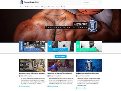MarcusGinyard.com - Main basketball wordpress webdesign design sports bootstrap responsive interface clean
