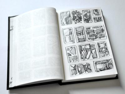 UI Sketches sketch pad plan pencil schemes ideas sketches ui
