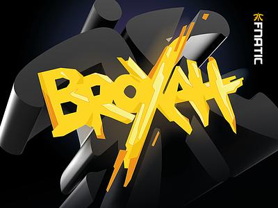 Fnatic Broxah design fnatic fire broxah lol gold win typography mouse pad