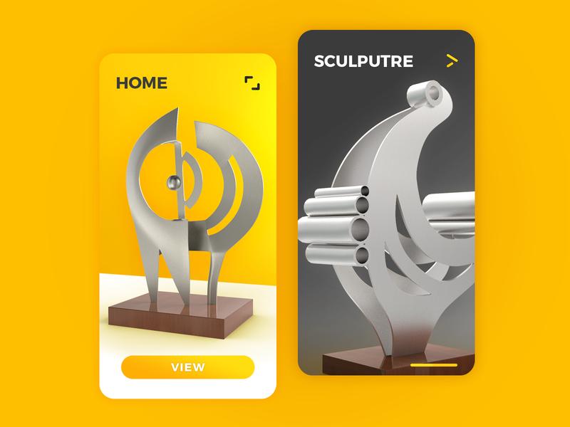 Sculpture Gallery App bird art application yellow sculpture gallery