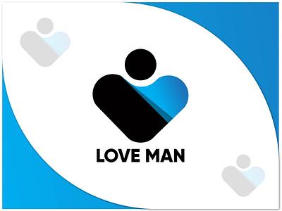 LOVE+MAN MODERN ABSTRACT LOGO love clean logo idea logo design unique logo gradient logo art minimalist logo abstract apps icon corporate logo trends 2020 logo mark dribble design brand identity logotype branding logos logo