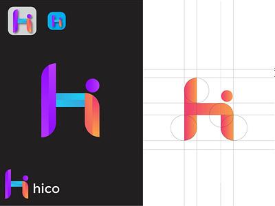 H + I LOGO DESIGN logo design 3d logo busniess abstract letter logo letter i letter h grid logo corporate logotype apps icon logo trends 2020 colorful logo mark dribble brand identity modern branding logos logo