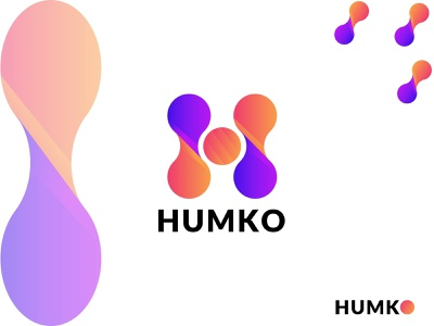 HUMKO LOGO DESIGN WITH LETTER H MARK letter h logo design unique logo apps icon corporate busniess logogrid initials logo vectors logo design popular design logo trends 2020 ux colorful design logotype logo mark dribble branding brand identity logo