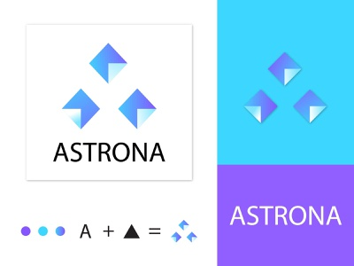 Astrona logo - modern initial A logo mark modern a logo custom logo design lettering tech logo business logo logo identity logo ideas illustrator logo design letter a logo colorful apps icon logo trends 2020 logo mark corporate logotype brand identity branding logos logo