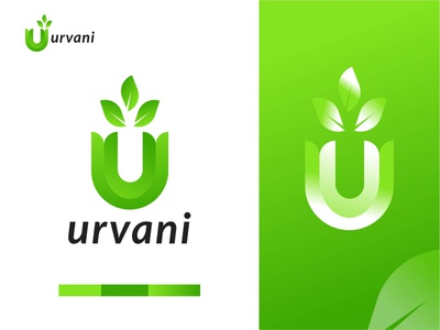 urvani logo - abstract u logo mark icon apps icon unique logo design corporate busniess logo u vector logo gradient logo green nature logo creative u logo letter u logo modern logo design initial u logo organic logo u modern logo brand identity logos branding logo