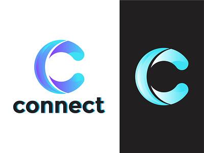 Letter c negative space logo - Modern c logo design gradiend brand logo busniess logo modern c logo initial c logo c logo lettermark lettering letter c colorful logotype apps icon corporate logo mark dribble brand identity branding logos logo