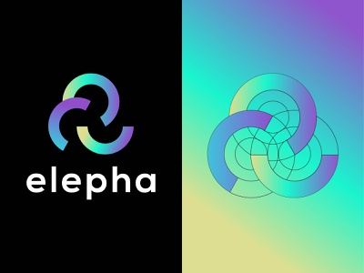 elepha logo - modern apps logo design - abstract mark logo modern design gradient logo mascot logo elephant logo vector logos modern colorful corporate apps icon logo mark branding logo brand identity