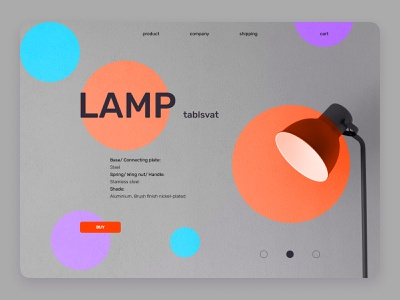 e-commerce shop design shapes gray dailyuichallenge daily lamp minimal webdesign web ui design