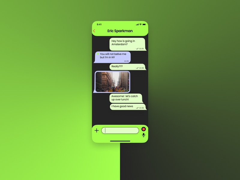 Direct Messaging App mobile app web uidesign uiux mobile ui minimal app ui design dailyuichallenge dailyui
