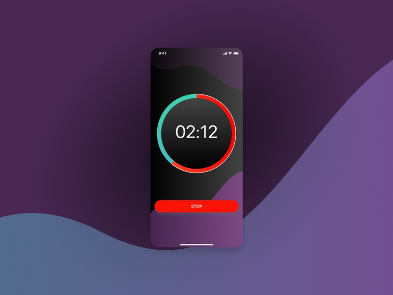 Countdown Timer uidesign uiux countdown timer timer ios mobile ui minimal design ui dailyui014 daily ui
