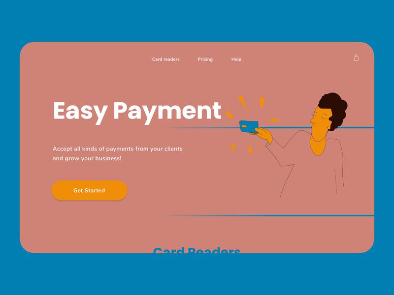 Landing Page — Card Readers landing landingpage payment uiux uidesign webillustration illustration webdesign web ui design
