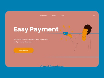 Landing Page — Card Readers landing landingpage payment uiux uidesign webillustration illustration webdesign web ui design