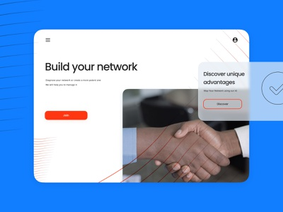 UI for networking service minimal clean design network branding uidesign uiux minimal webdesign web ui design