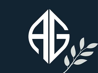 AG AG Monogram concept logo. brand identity branding drawing dailyui dribbble digital logotype logodesign logo design lettering logo illustrator illustration animation icon vector typography minimal graphic design design