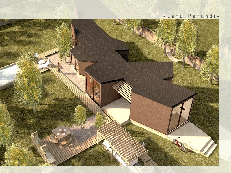 Aerial view of house in the forest, MDQ architectural visualization realistic renders forest architecture design renders realistic 3d home confort exterior design architecture 3d visualization 3dsmax 3d render 3d artist