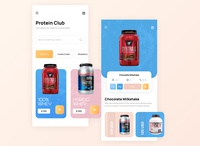 Jack3d - Authentic Supplements App visual art visual design flatdesign user interface design vibrant design app minimal branding flat color design uxdesign ui app userinterface ui design