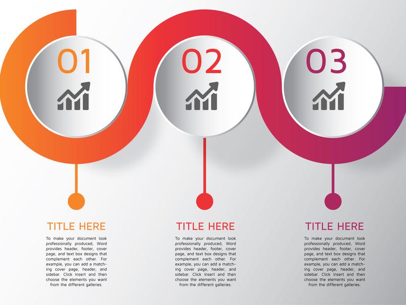 3D timeline infographic template logo illustration icon design info-graphics