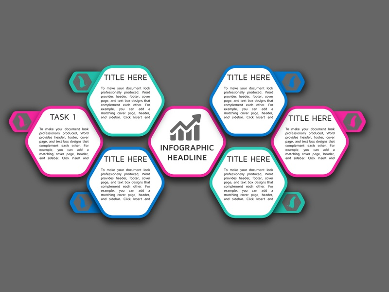 Hexagonal Info-graphics illustration info-graphics