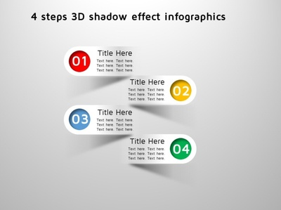 4 steps 3D shadow effect infographics branding info-graphics illustration