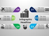 6 steps infographics branding illustration info-graphics