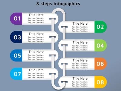 8 steps info-graphics design logo vector branding illustration info-graphics