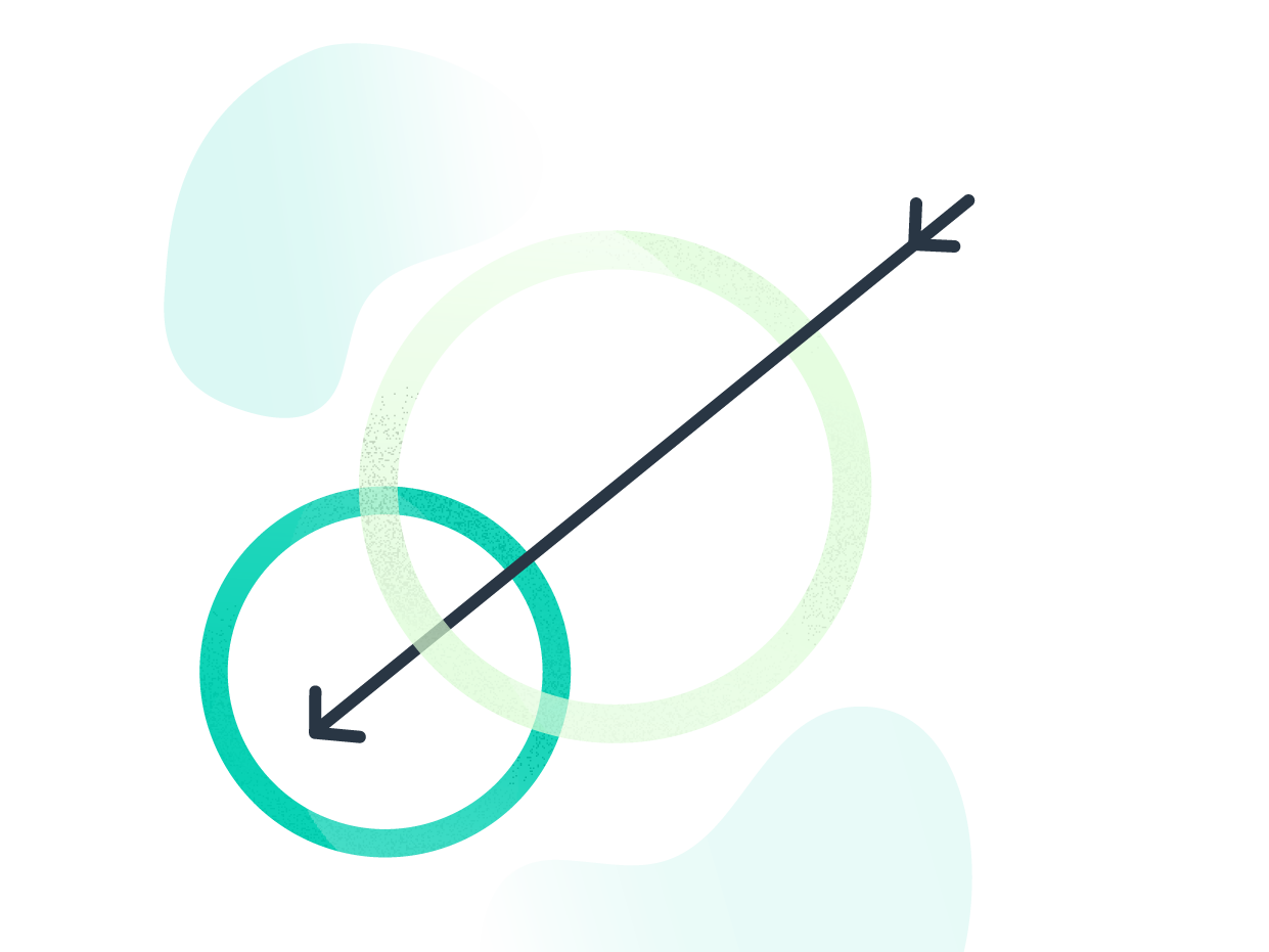 Accuracy shapes geometric arrow tracking data growth illustrator business illustration vector