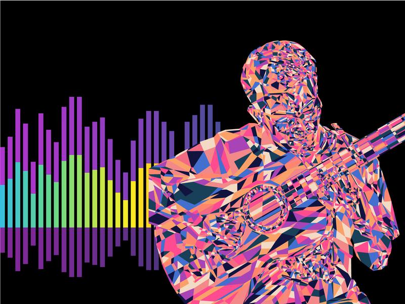 All My Favorite Colors sound music guitar portrait illustration color colors