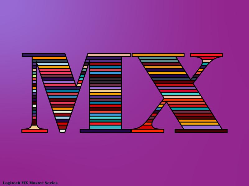 Logitech MX Master Series illustraion logo mx logitech