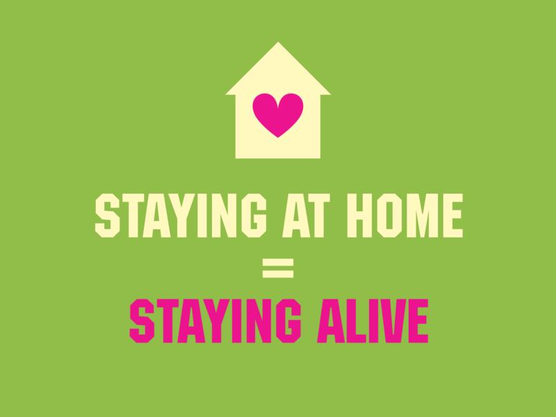 Message to everyone coronavirus life stayhome design logo icon typography branding vector illustration