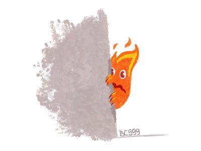 Calcifer calcifer shy fire art comic character childish illustration