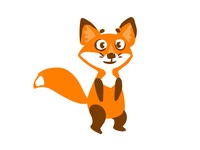 lisenok foxy fox art comic animal childish character illustration