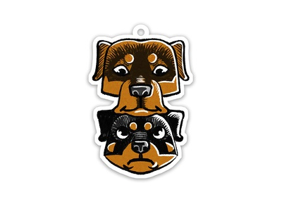 Ron and Rada dog comic animal childish character illustration