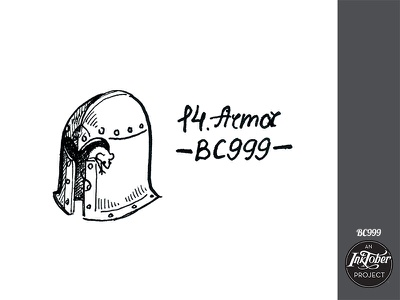 day14 inktober mouse armor inktober2020 inktober art ink comic animal bw childish illustration