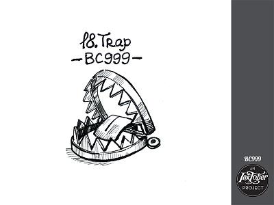 day18 inktober dribble bc999 snare trap inktober2020 inktober ink art comic bw childish character illustration