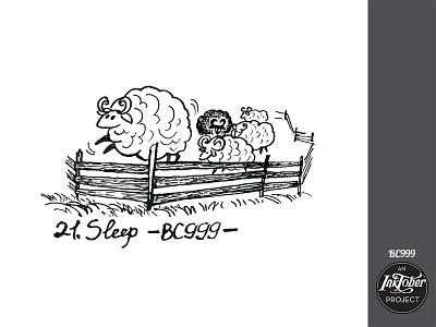 day21 inktober snoor dreaming dream sleep sheep inktober2020 inktober art ink animal comic bw childish character illustration