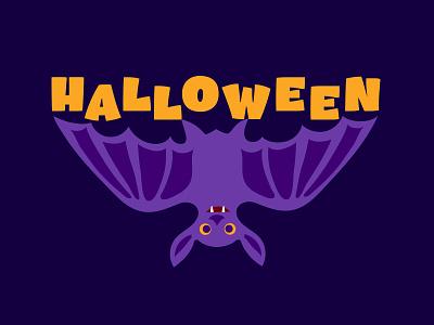 halloween halloween bat vector design art animal comic childish character illustration