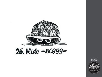 day26 inktober turtle inktober2020 inktober art ink animal comic bw childish character illustration