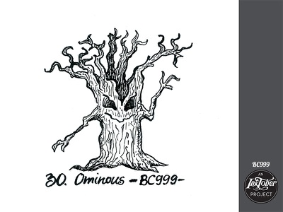 day30 inktober tree halloween inktober2020 inktober art ink bw comic childish character illustration