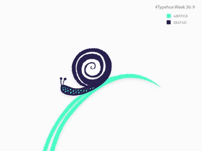 #Typehue Week 36: 9 typehueweek illustration snail nine