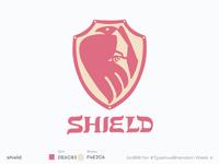 #Typehue Brandom 4 lettering type bird crow typehue shield