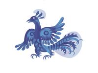 Gzhel Bird