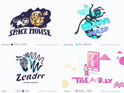top of 2018 on dribbble top mousepad icon typography branding design logo animal vector illustration