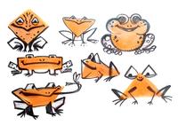 Frogs stylization