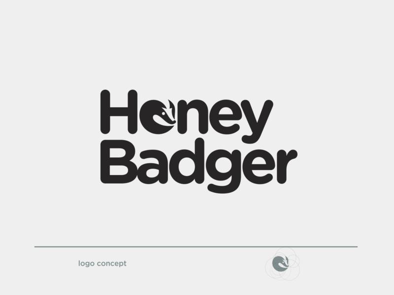 honey badger icon typography negative space logo logotype logos illustration flat design branding