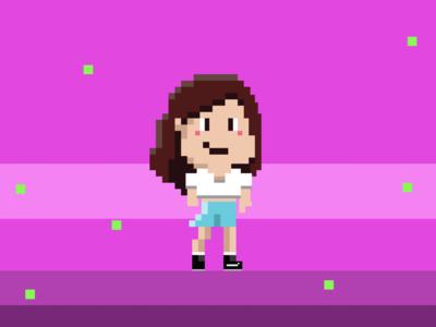Pixel art girl pixel art girl