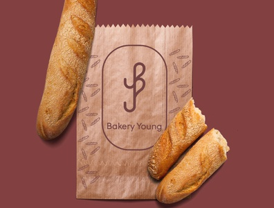bakery young logo bakery logo logodesigner logodesign 2020 logotype logo graphic freelancer freelance business graphics design branding