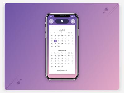 Smart Calendar UI—Dates behavior machine learning intelligence iphone depth shadows minimal context ios14 widget type accessible gesture smart integration siri swipe card calendar