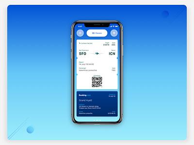 Smart Calendar UI—Passes interaction design ux product travel app smart machinelearning widget gesture iphone travel airport boarding context card calendar behavior accessible