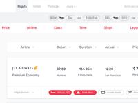 Flights Results UI