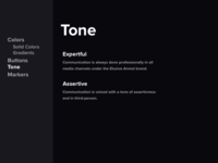 Brand tonality